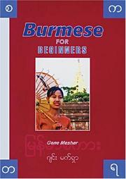 Cover of: Burmese for Beginners Book and CDs Combo | Gene Mesher