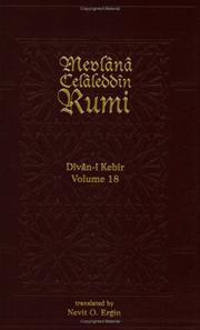 Cover of: Divan-I Kebir Volume 18