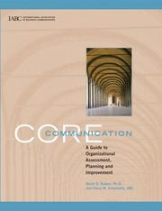Cover of: Core Communication: A Guide to Organizational Assessment, Planning and Improvement
