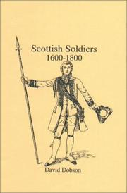 Cover of: Scottish Soldiers 1600-1800