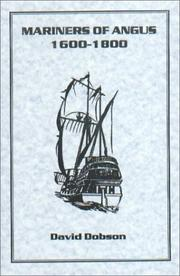 Cover of: Mariners of Angus 1600-1800