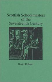 Cover of: Scottish Schoolmasters of the Seventeenth Century