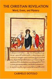 Cover of: The Christian Revelation (Contemporary Religious Thought)