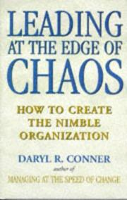 Cover of: Leading at the edge of chaos | Daryl Conner