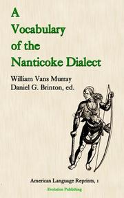 A Vocabulary of the Nanticoke Dialect (American Language Reprints)