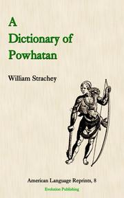 Cover of: A Dictionary of Powhatan | William Strachey