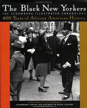 Cover of: The Black New Yorkers: the Schomburg illustrated chronology