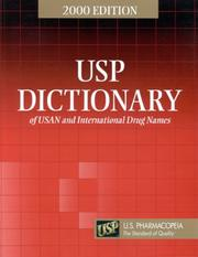 Cover of: USP Dictionary of USAN and International Drug Names, 2002 Edition |