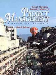 Cover of: Project management