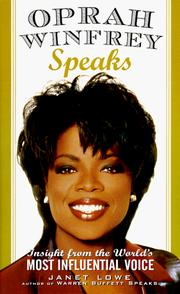 Cover of: Oprah Winfrey speaks