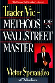 Cover of: Trader Vic-- methods of a Wall Street master