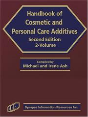 Cover of: Handbook of Cosmetic and Personal Care Additives
