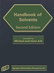 Cover of: Handbook Of Solvents | Michael Ash