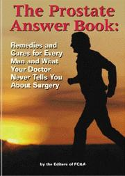 Cover of: The Prostate Answer Book | Frank W. Cawood and Associates