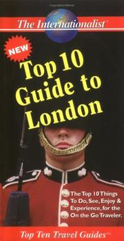 Cover of: Top 10 Guide to London (Top 10 Travel Guides (Internationalists)) | Swetha Ramachandran