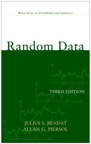 Cover of: Random Data | Julius S. Bendat