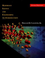 Cover of: Materials Science and Engineering | William D. Callister Jr.