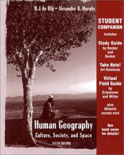 Cover of: Student Companion to Human Geography