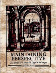 Cover of: Maintaining Perspective