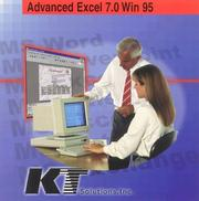 Cover of: Advanced Excel 7.0 for Windows 95 | K. T. Solutions Inc.