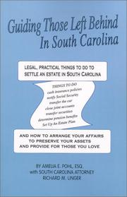 Cover of: Guiding Those Left Behind in South Carolina (Guiding Those Left Behind In...)