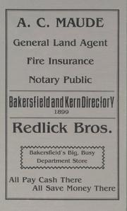 Cover of: Bakersfield and Kern City Directory