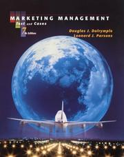 Cover of: Marketing Management | Douglas J. Dalrymple