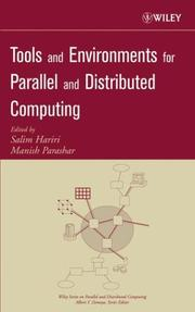 Cover of: Tools and Environments for Parallel and Distributed Computing (Wiley Series on Parallel and Distributed Computing) |