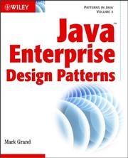 Cover of: Java Enterprise design patterns