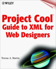 Cover of: Project Cool Guide to XML for Web Designers | Teresa A. Martin