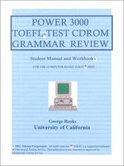Cover of: Power 3000 TOEFL Test CDROM Grammar Review  | George M. Rooks
