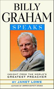 Cover of: Billy Graham speaks: insight from the world's greatest preacher