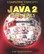 Cover of: Computing concepts with Java 2 essentials | Cay S. Horstmann