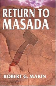 Cover of: Return to Masada by Robert G. Makin