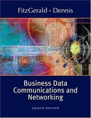 Cover of: Business data communications and networking