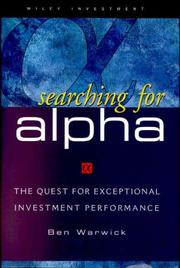 Cover of: Searching for Alpha