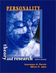 Personality by Lawrence A. Pervin