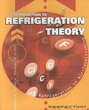 Cover of: Introduction to Refrigeration Theory | Perfectimm