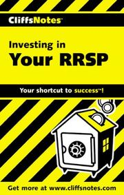 Cover of: CliffsNotes Investing in Your RRSP | Janice Biehn