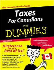 Cover of: Taxes for Canadians for Dummies | Christie Henderson