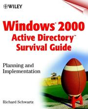 Cover of: Windows 2000(r) Active Directory Survival Guide | Richard Schwartz
