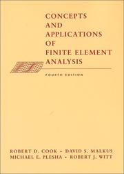Cover of: Concepts and applications of finite element analysis |