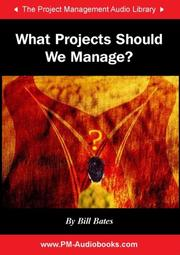 Cover of: What Projects Should We Manage?