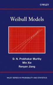 Cover of: Weibull models by D. N. P. Murthy