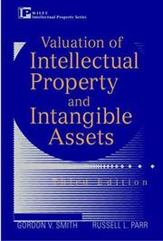 Valuation of intellectual property and intangible assets by Gordon V. Smith