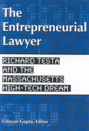 Cover of: The Entrepreneurial Lawyer | Udayan Gupta