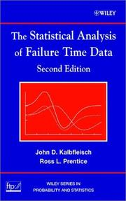 The statistical analysis of failure time data by J. D. Kalbfleisch