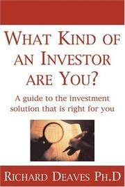 Cover of: What Kind of an Investor Are You?