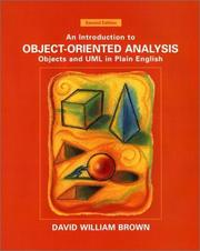 Cover of: An introduction to object-oriented analysis