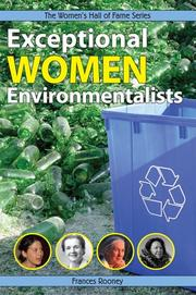 Cover of: Exceptional Women Environmentalists (The Women's Hall of Fame Series)